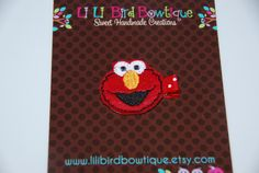 READY TO SHIPFelt Embroidered Elmo Hair Clip / by lilibirdbowtique, $3.50