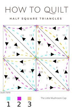 How to quilt Hst quilt direction