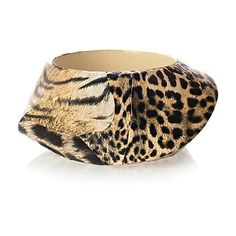 brown and black leopard print bangle - bracelets - jewellery - women - River Island - £ 12.00