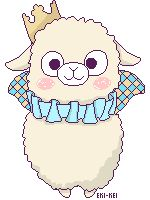 derpola: eki-kei: In celebration of getting my dream paca prince I wanted to create a cute pixel prince! (๑˃̵ᴗ˂̵)و Also I'll be using it for my avatar on alpacasso omgforum ٩(๑>◡<๑)۶ Aw omg haha