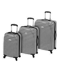 Loving this Amelia Metropolitan 360° Three-Piece Travel Case Luggage Set on #zulily! #zulilyfinds