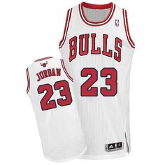 c60b3e89d75aac Men s Michael Jordan Authentic White Jersey  Adidas NBA Chicago Bulls Home