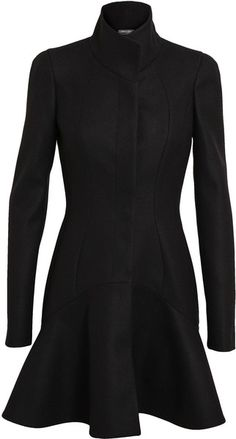 ALEXANDER MCQUEEN   Virgin Wool Princess Coat - Lyst