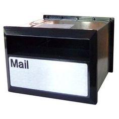 Velox Flexi Brick In Back Open Letterbox Silver/Black 230mm