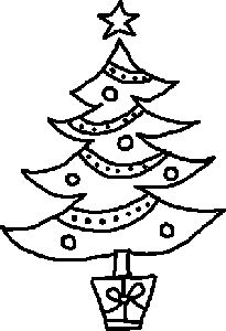 vintage christmas tree drawing deck the halls pinterest rh pinterest com clipart black and white christmas tree xmas tree black and white clipart