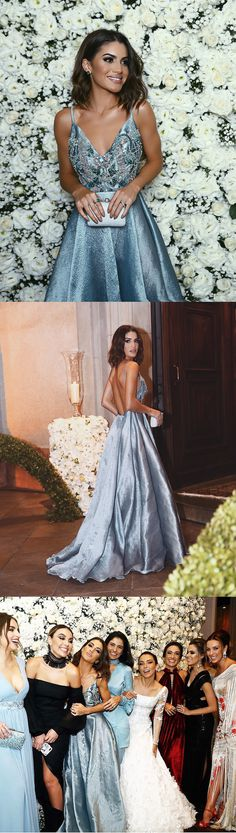 long prom dress, 2017 prom dress, blue long prom dress, backless long prom dress, formal evening dress, party dress
