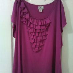 Very nice colored  top Like new colored top Worthington Tops Blouses