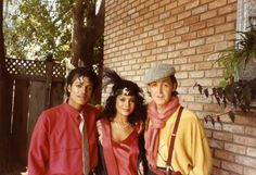 Michael Jackson, LaToya Jackson, Paul McCartney on the set of the video for Say, Say, Say