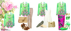 Mix & Match with Teal Kebaya Nyonya with Flower Embroidery details