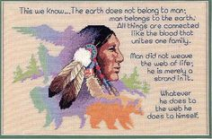 """""""This we know......."""" Indian quote cross stitch pattern chart Plus every word that is stitched is sooooo true"""