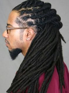 Locs with taper. To learn how to grow your hair longer click here - blackhair.cc/1jSY2ux
