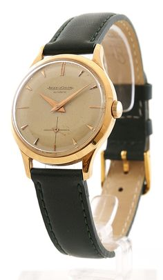 Jaeger LeCoultre Automatic Classic Vintage. Check out the ARISTOCRAT strap on straptwatches.com