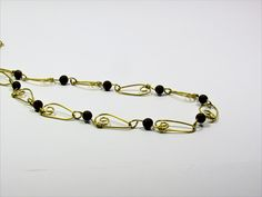 CopperJEWEL brass wire and bead necklace.