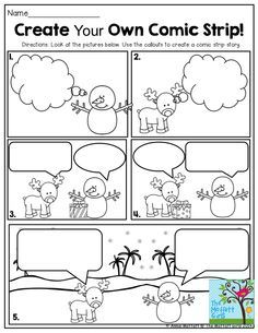 FUN-Filled Learning with NO PREP! Create Your Own Comic Strip! This is such a FUN way to get second grade students writing creatively!Create Your Own Comic Strip! This is such a FUN way to get second grade students writing creatively! Work On Writing, Teaching Writing, Writing Activities, Classroom Activities, Daily 5 Writing, Writing Comics, Writing Centers, Writing Ideas, Creative Writing