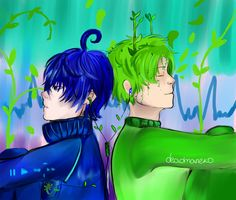 Bamboo-kun and Mp3-kun by Deadmaneko.deviantart.com on @DeviantArt