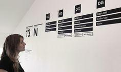 Leit- und Orientierungssystem der Fakultät für Design