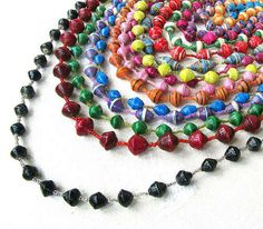 How to Make Paper Beads and Jewelry Tutorials ~ The Beading Gem's Journal