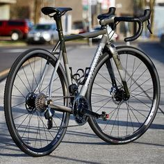 A full custom titanium Rugged Road rolling and a full ENVE cockpit. Who's ready to hit the backroads? Mountain Biking, Cycling, Bicycle, Biking, Bike, Bicycle Kick, Bicycling, Bicycles, Ride A Bike