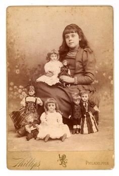 Cabinet Photo Victorian Girl Bisque Doll Collection | eBay