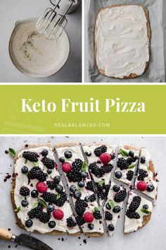 This keto fruit pizza is a delightful low carb dessert to serve this Summer. It's made with a sunflower seed meal base with a cream cheese frosting sweetened with Lakanto monk fruit sweetener, then topped with seasonal berries. So, not only is it delicious and pretty, but it also is loaded with nutrients and ingredients that won't spike your blood sugar. #realbalancedblog #sponsored #ketofruitpizza #lowcarbfruitpizza
