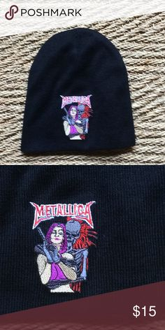368d64f143725 Brand new one size embroidered Metallica beanie! Brand new one size  embroidered Metallica beanie!