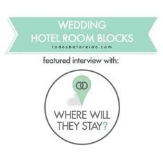 Where Will They Stay? podcast interview on To Do's before the I Do