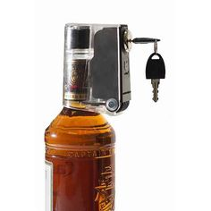 Have peace of mind and prevent underage drinking by keeping your home liquor bottles secure and locked with this handy bottle lock. May need these when the boys are older! Wine And Liquor, Liquor Bottles, Diy Gifts, Great Gifts, Christmas Gifts, Christmas 2016, Hooch, Secret Santa Gifts, Bar Tools