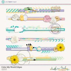 Color My World Edges by SCD #decorativeedges #edges #scrapbook  #digital #digitalscrapbook #PDW #plaindigitalwrapper #southerncreekdesigns #SCD