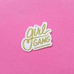 Support your local Girl Gang. Represent by wearing this patch on your sweatshirt, beanie, backpack, long johns, jean jacket, or pretty much anywhere. Works well for scaring off chauvinist boys & girls
