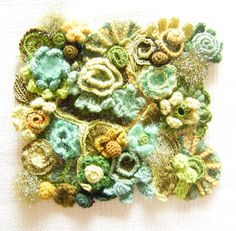 Another gorgeous freeform crochet- a spring garden in fibers! I love it!