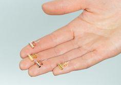 4th Dimension 18ct Gold Vermeil oblong earrings Rose Gold vermeil oblong earrings