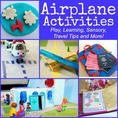 21 Awesome Airplane Activities - One Time Through Plane Crafts, Craft Stick Crafts, Fun Crafts, Crafts For Kids, Airplane Activities, Party Activities, Preschool Activities, Alphabet Activities, Planes Party