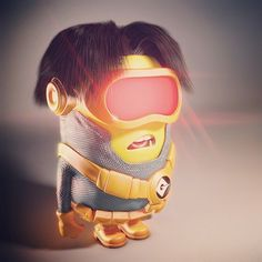 Minion Cyclops (2013) #minions #despicableme #marvel #cyclops #xmen #3d #c4d #maxon #zbrush #pixologic #character #instaart #mashup #artwork #graphic #illustration by ortegabh
