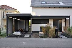 Moderne carports carport stahl glasdach und integriert