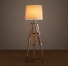 Fun lamp for a camera/photography room!! Royal Marine Tripod Floor ...:All Floor Lighting   Restoration Hardware,Lighting