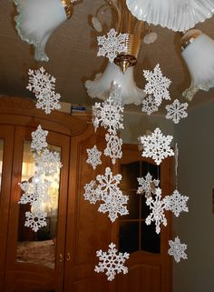 Снежинки крючком. #crochet_snowflakes