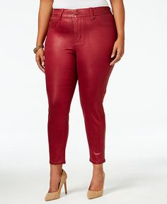 0be129690d2 Melissa McCarthy Seven7 Trendy Plus Size Coated Colored Wash Jeans    Reviews - Jeans - Plus Sizes - Macy s