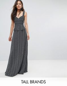 Get this Y.a.s Tall's long dress now! Click for more details. Worldwide shipping. Y.A.S Tall Sea Ruffle Waist Maxi Dress With Thigh Split - Navy: Tall dress by Y.A.S. Tall, Woven fabric, Striped design, Sweetheart neck, Wide straps, Zip-back fastening, Regular fit - true to size, Machine wash, 100% Polyester, Our model wears a UK S/EU S/US XS and is 180cm/5'11 tall. Putting a clean twist on everyday essentials, Danish label Y.A.S packs its understated cool into dresses, premium leather and…
