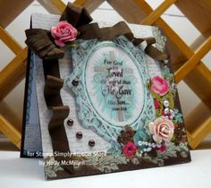 For God so Loved the World...John 3:16.  Card by Holly for The Stamp Simply Ribbon Store.