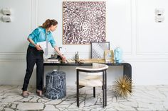 Cultivating the perfect workspace. Xk #kellywearstler #office #interior
