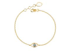 Missoma Gold vermeil evil eye charm bracelet