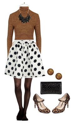 """Classy with a splash of leopard"" by elle-noelle on Polyvore featuring Topshop, Jessica Simpson and Christian Louboutin"