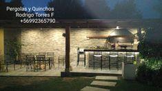 PERGOLAS Y QUINCHOS: quinchos Outdoor Kitchen Grill, Backyard Kitchen, Outdoor Kitchen Design, Backyard Patio, Outdoor Patio Designs, Blessed Mother, Barbacoa, Bbq, Cases