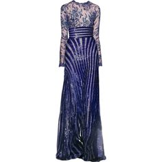 edited by Satinee - Zuhair Murad ❤ liked on Polyvore featuring dresses, gowns, long dresses, vestidos, satinee, blue evening dresses, blue dress, zuhair murad evening gowns and blue gown