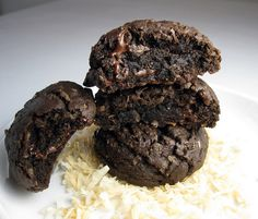 double chocolate-coconut cookies by Vanilla Sugar Blog, via Flickr