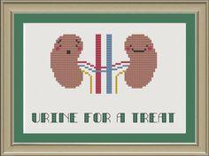 Urine for a treat nerdy kidney crossstitch by nerdylittlestitcher, $3.00