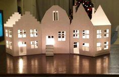 Casette con lumini x atmosfera natalizia dal gusto nordico.....