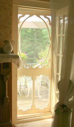 Now that's a screen door! Grandma's had a great squeeeek and bang whenever someone opened it =)