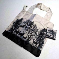 """Einkaufstasche """"Wäldchen"""" – Scherenschnitte Esther Gerber Cut Paper Art, Swiss Guard, Shopping, Sachets, Bags, Gifts"""
