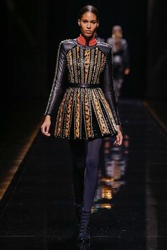 One of my favorite looks from Balmain Fall 2014 Ready-to-Wear Collection (Worn by Rosie Huntington-Whiteley)